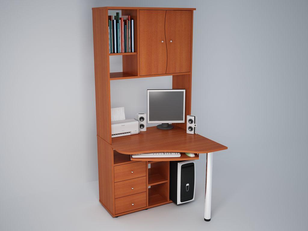 Стол компьютерный абсолют-мебель с825. мебель, двери, заказн.